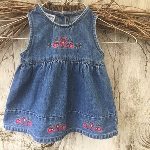 Oshkosh blue jean jumper 12M
